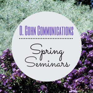 Spring Seminars