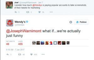 Wendys Tweet