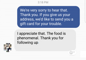 Facebook good customer service 2