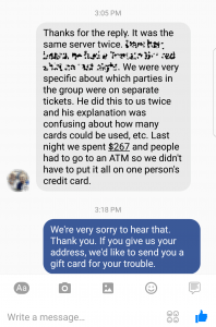 Facebook good customer service